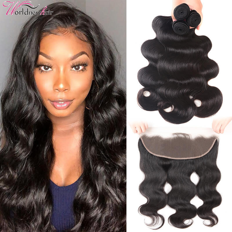 Top Selling Body Wave 3 Bundles With 13x4 Lace Frontal With Bundles On Sale