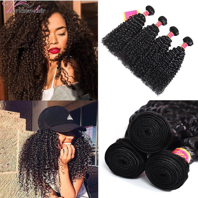 Malaysian Virgin Remy Kinky Curly Hair Bundles