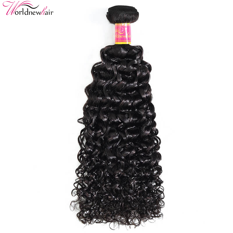 Jerry Curly Hair 1 Bundle Natural Black 100% Human Virgin Hair Weave