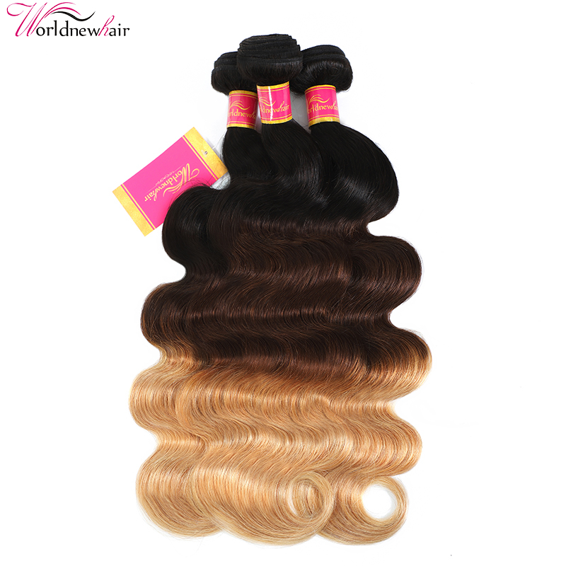 Ombre Hair Body Wave 3 Tone Ombre Bundles Unprocessed Human Hair For Sale