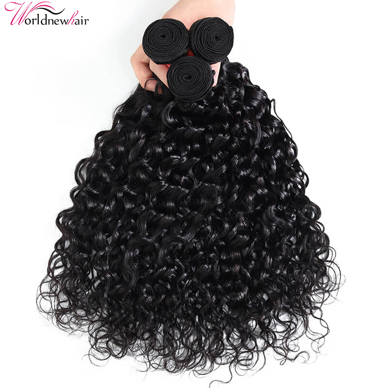 WorldNewHair Virgin Water Wave Hair Weave 3Bundles For Online Sale