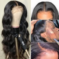 Body Wave 360 Lace Frontal Wig Pre Plucked Natural Hairline Human Hair Wig With Baby Hair
