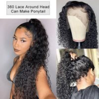 Water Wave 360 Lace Front Wigs 150%/180% Density Human Hair Wigs