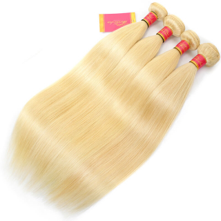 Brazilian Human Virgin Hair Pure 613 Blonde Straight 3 Bundles
