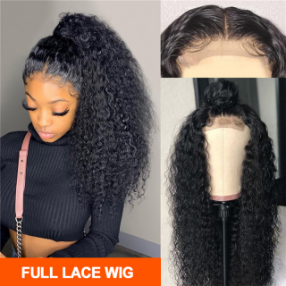 Brazilian Afro Curly Full Lace Human Hair Wig Virgin Kinky Curly Hair Pre Plucked Full Lace Wig Human Hair