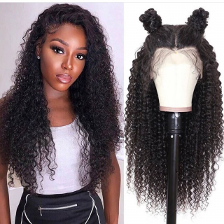 Kinky Curly Lace Front Wig Transparent HD Lace Frontal Human Hair Wig Pre Plucked Curly Hair Lace Wigs For Black Women