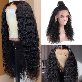Deep Wave Human Hair Wig 13x4 and 13x6 Lace Front Deep Wave Wig With Baby Hair Around