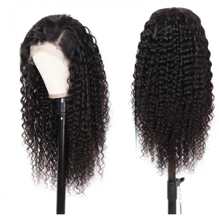 Deep Wave Human Hair Wig 4x4 Lace Closure Wig 150% and 180% Density Natural Looking