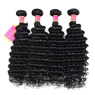 Brazilian Deep Wave Human Hair Weave Bundles