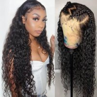 Pre Plucked Water Wave Lace Front Wig Natural Hairline Human Hair Wigs With Baby Hair