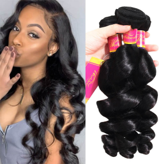 4 Bundles Brazilian Virgin Human Hair Weave Bundles Loose Deep Wave Hair Extension