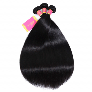 Peruvian Straight Hair 3 Bundles 100% Unprocessed Remy Human Hair Bundles Weave