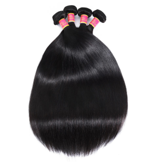 Human Virgin Hair 3 Bundles Bone Straight Indian Human Hair Weaving