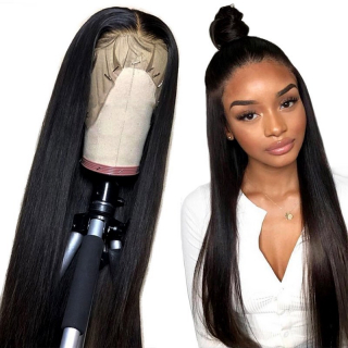 Affordable Straight 13x6 Lace Front Wig High Density Deep Parting Human Hair Lace Front Closure Wig