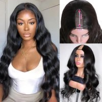 150% Density Body Wave U Part Wig‎ Brazilian Human Hair U part Wigs For Women