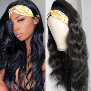 Affordable Headband Wig Body Wave Natural Color Human Hair Wig Beginner Friendly