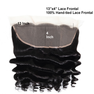 Loose Wave Human Hair 13x4 Pre Plucked Lace Frontal Closure Free Part