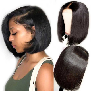 Short Blunt Bob Wigs 8-14inch Human Hair 4x4 Lace Closure Wigs for Women Pre Plucked Hairline with Baby Hair