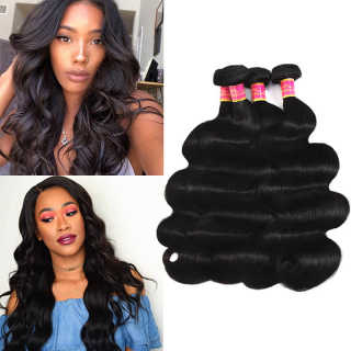 Peruvian 3Bundles 100% Virgin Peruvian Hair Body Wave Human Hair Weft
