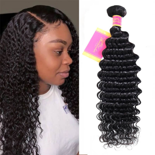 WorldNewHair 1PC Unprocessed Deep Wave Human Virgin Hair Weaving
