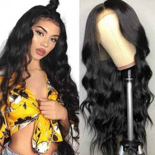 Full Lace Body Wave Human Hair Wig Pre-plucked 150% and 180% Density Body Wave Wig