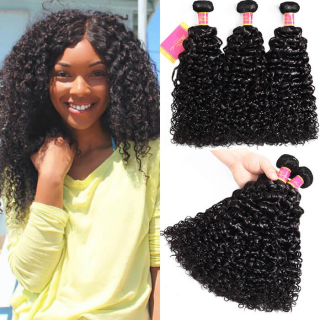 7A Grade Jerry Curly Weave Hair 3 Bundles Curly Hair Extension