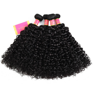 Brazilian Jerry Curly Hair Weave 4Bundles Hair Weft Unprocessed Virgin Hair Extensio
