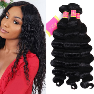 100% Human Hair 4bundles Loose Deep Wave Hair Weave Weft