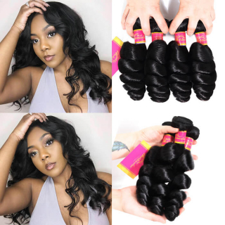 WorldNewHair Loose Wave Virgin Hair Weft 4pcs/pack