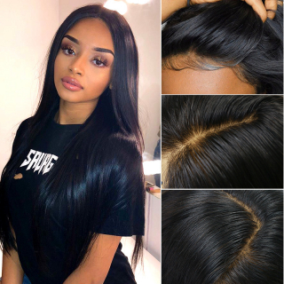 Affordable Silk Base Tops Wig Straight 13x6 Lace Front Realistic Human Hair Wig Natural Hairline