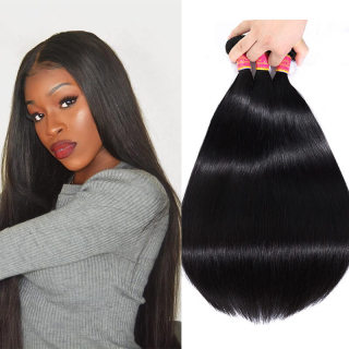 WorldNewHair Straight Indian Virgin Hair Indian Straight Hair 4 Bundle Deals