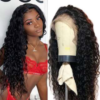 Undetectable Lace Glueless Water Wave Lace Frontal Silk Base Lace Front Wig Pre-Made Fake Scalp Cap Human Hair Wi