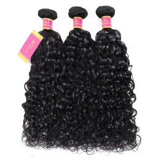 Brazilian Virgin Water Wave Hair 3 Bundles Human Hair Weft