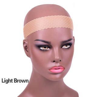 Light Brown Silicone Headband Non Slips Elastic Wig Band