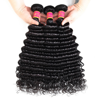 WorldNewHair 3pcs/lot Best-Quality Wet and Wavy Deep Wave Human Hair Bundles
