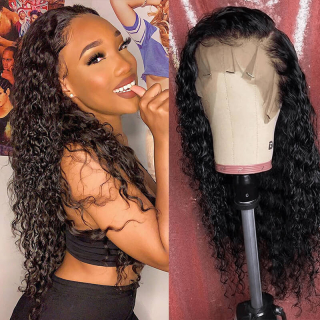 Affordable Water Wave HD Transparent Lace Front Wig Remy Human Hair Wig For Black Women