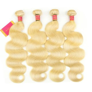 worldnewhair #613 Blonde Hair 4pcs Human Hair Body Wave High Quality Hair Weft