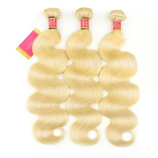 WorldewHair Virgin Hair Pure 613 Blonde Brazilian Body Wave 3 Bundles Body Wave Hair