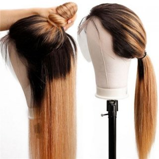 Ombre Bobd Wave Human Hair Wig With Baby Hair High Density Ombre Lace Front Wigs