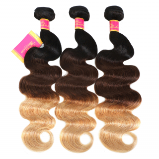 7A Unprocessed 3 Bundles Ombre Malaysian Body Wave Human Hair Weave (5)