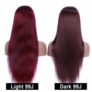 99J Color Body Wave Human Hair Wig With Baby Hair High Density Lace Front Wigs