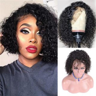 Curly Short Bob Lace Front Human Hair Wigs For Sale Curly Human Hair Wigs