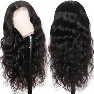 Human Hair Body Wave 360 Lace Frontal Wig Pre Plucked Natural Hairline Lace Wig With Baby Hair