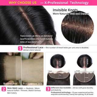 Straight Human Hair 3 Bundles With 13x4 Transparent Swiss Lace Closure Frontal With Bundles