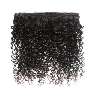 Kinky Curly Hair 4 Bundles With Lace Frontal Closure Brazilian Virgin Human Hair Weave For Black Women