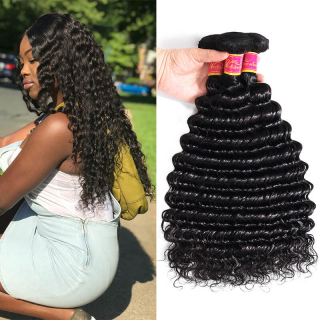 Peruvian Deep Wave Hair 3 Bundles Best Virgin Human Hair Weave Online