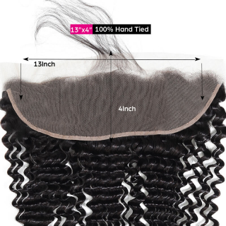 7a Grade Deep Wave Hair 13x4 Lace Frontal Closure Ear to Ear Deep Wave Lace Frontal Closure
