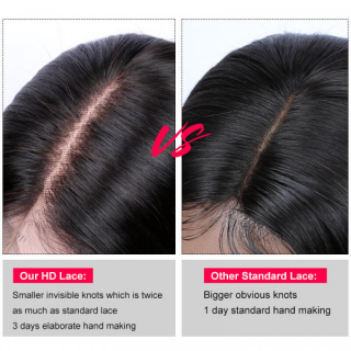 Transparent Lace Front Wigs Body Wave Human Hair Wigs Pre Plucked Natural Hairline