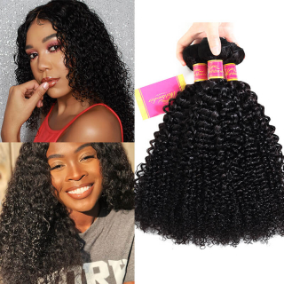 Peruvian Premium Virgin Human Curly Hair Extension 3 pcs/pack for sale