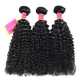 Indian Remy kinky Curly Hair Weave 3 bundles/pack virgin human hair Weft